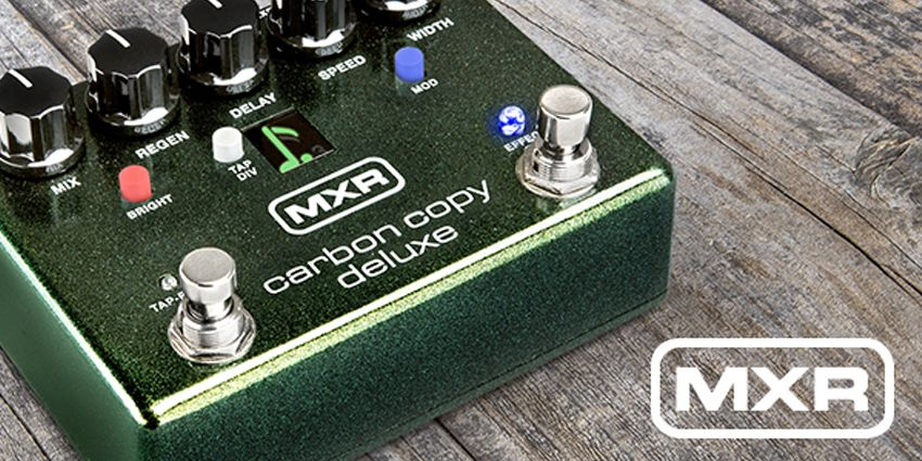 La MXR Carbon Copy en version Deluxe