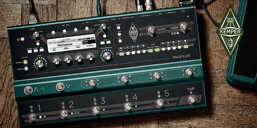Kemper sort le Profiler Stage