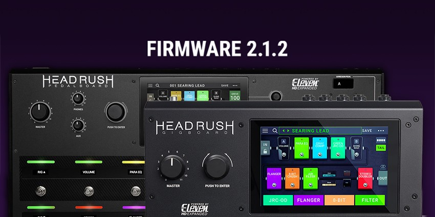 Update des firmware Headrush